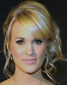 Carrie Underwood Bobby Pinned updo - Updos Lookbook - StyleBistro