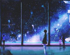 here is quite the amassing anime out of space scenery. truly something else.