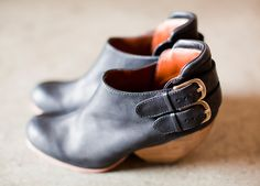 Love this heel! Rachel Comey Barbaro Calf Boots - The Supply Room Crazy Shoes, Me Too Shoes, Oxfords, Calf Boots, Shoe Boots, Pumps, Heels, Black Midi, Peep Toe