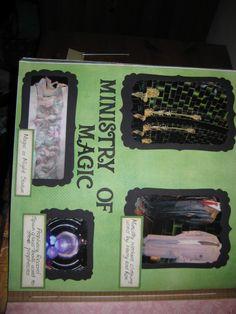 Ministry of Magic Harry Potter scrapbook
