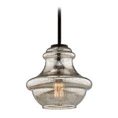 Kichler Lighting Everly Olde Bronze Mini-Pendant Light with Urn Shade