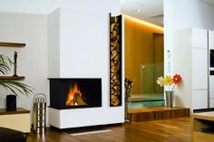 2-seitiger Heizkamin #moderner Heizkamin #moderner Kamin #fireplace #Rüegg Heizkamine www.Ofenkunst.de