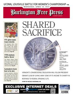 The Burlington Free Press, published in Burlington, Vermont USA