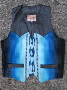 vintage Aaron Michael Sante Fe Aztec wool leather by Simplemiles, $84.00