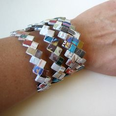 Eco-Chic Bracelet Made With Magazines, Junk Mail & Catalogs