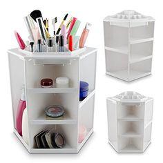 360 drehung diy kosmetik make up organizer aufbewahrung st nder kosmetikbox de in beauty. Black Bedroom Furniture Sets. Home Design Ideas