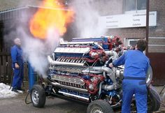 Dragon Fire Tractor Pull Engine.  Supercharged 42 cylinder radial diesel, producing 8,000 horsepower at 2,500 RPM.