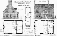 1879 - Detached Villas, Bedford Park Estate, Turnham Green, London - Archiseek.com