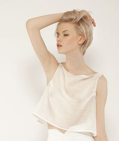 White top by Maria MROVCA Buy it: http://shop.inspirare.com/items/white-top-1