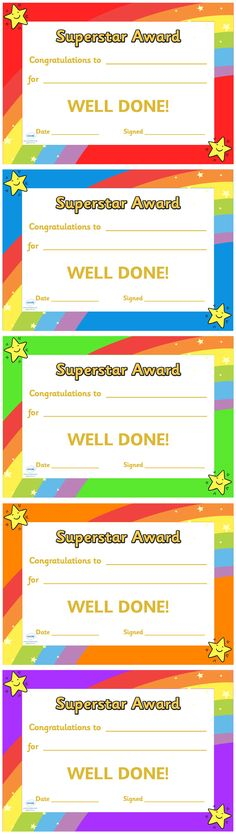 Twinkl Resources >> Super Star Award Certificate  >> Thousands of printable primary teaching resources for EYFS, KS1, KS2 and beyond! super star, award, reward, celebration, certificate, colorful, editable, printable, personal