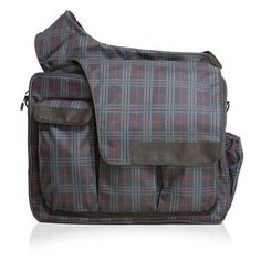 Retro Navy/Red Plaid Messenger II