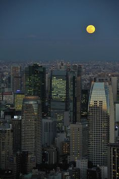 ✮ Tokyo And Full Moon