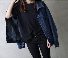 oversized denim jacket - tap image