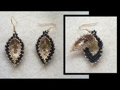Tutorial Jahitan Manik : Beading4perfectionists : Double Russian leaf earrings beading tutorial (video version) - % - http://maribelajarsulamanmanik.com/tutorial-jahitan-manik-beading4perfectionists-double-russian-leaf-earrings-beading-tutorial-video-version/