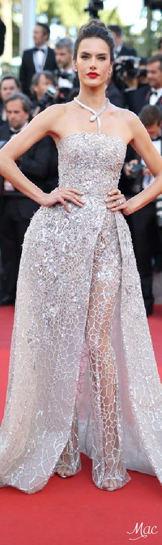 Cannes 2016: Alessandra Ambrosio in Zuhair Murad and Bulgari Jewels