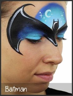 batman face painting by mimicks