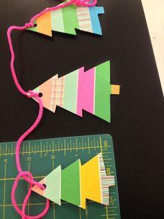 washi tape garland tutorial by wise kraft