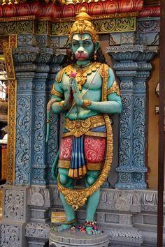 Hanuman with a Namaste (Anjali Hasta) posture (Singapure) Shiva Art, Hindu Art, Hanuman Photos, Lord Hanuman Wallpapers, Shri Hanuman, Durga Kali, Krishna, Lakshmi Images, Oriental