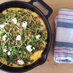 A big thanks to my local farmers for this Local Frittata Lunch I made & enjoyed with @Edible East End magazine. Carmelized Onion, #QuailHillFarm Sweet Potato, #MecoxBayDairy Bacon, @amberwavesfarm baldwin Greenhouse Kale, #IaconoFarm Egg Frittata topped with Goat Cheese, toasted Pepitas, and @Goodwaterfarms Sunflower Microgreens and a huge thanks to @omniziltoid for the inspiration for the Frittata! http://evpo.st/1m98GBE