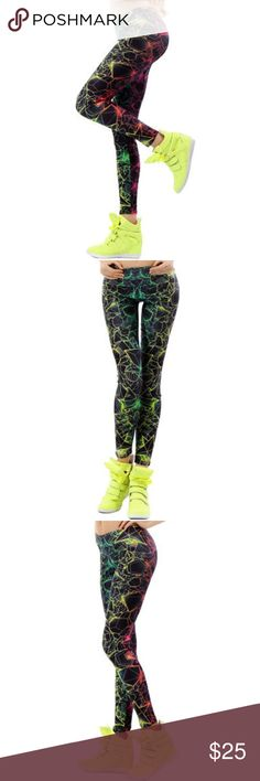 Laser⚡️ Style Leggings High quality electric laser style leggings. Great for the gym Pants Leggings