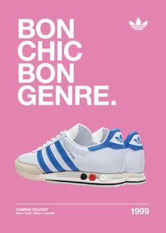 newest f344d 291ec Adidas Kegler Originals Campag Velocet Bon Chic Bon Genre A3 Poster Trainers