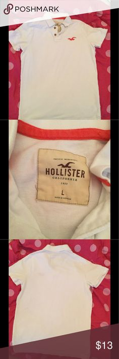 HOLLISTER POLO SHIRT Hollister Pique Logo Polo. In excellent conditions Hollister Shirts Polos