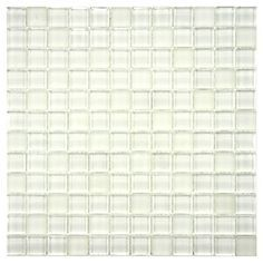 SomerTile 'Reflections' Square Ice White Glass Mosaic Tiles (Pack of Mosaic Wall Tiles, Mosaic Glass, Pool Houses, Beach Houses, Tile Stores, White Tiles, Tile Floor, Reflection, Home And Garden