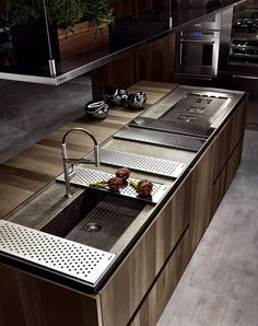 Stainless worktop space