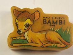 VTG 1940 BAKELITE DIECUT BAMBI PENCIL SHARPENER WALT DISNEY