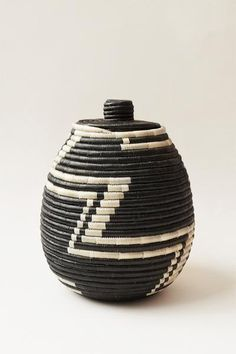This hand woven, lidded basket is made of sisal that is locally grown in Rwanda.Profits from allIndego Africa products fund educational training programs for