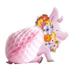 "Luau Pig Centerpiece by Century Novelty. $3.95. Spice up the Tables at your Luau with a Luau Pig Centerpiece! The Luau Pig Centerpiece is an attractive decoration for your Luau party at an affordable price that keeps your check book as happy as your Luau guests. And since a tropical party is not complete until everything is Hawaiian, don't forget your table centerpieces. 12"" long. Cardboard head and feet with art tissue body. A must have Hawaiian accessory for tropical ..."