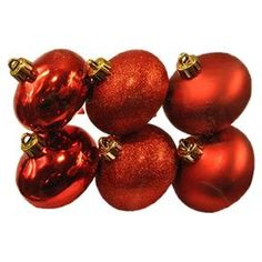 Onion Ornament in Red (Set of 6)