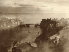 Town & Lower Harbour, Whitby, North Yorkshire, England [1860]