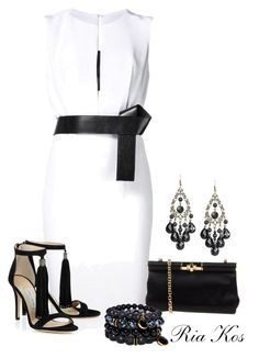 white dress by ria-kos on Polyvore featuring KaufmanFranco and Dolce&Gabbana