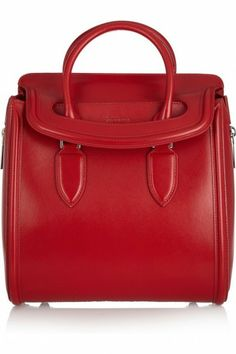 Alexander McQueen borsa Heroine rossa - #bags #bag