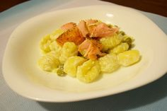 gnocchi z lososiem