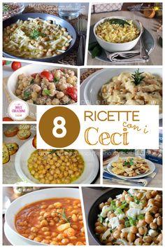 Ricette con i ceci, raccolta di 8 piatti facili e gustosi. Orzo, Chana Masala, Curry, Food And Drink, Cooking Recipes, Ethnic Recipes, Anna, Diet, Canning