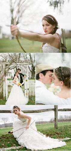 Wedding Inspiration ~ The Hunger Games ~ on Style Me Pretty. Stunning!!  Photography by Carmen Santorelli, Design and Styling by Stacie Shea Events, Floral Design by Ava Flora