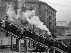 Italian Vintage Photographs ~ #Italian #Vintage #Photographs ~ Milan by Mario De Biasi - Porta Romana.