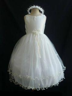 Classykidzshop Tulle Pageant Special Occasion Flower Girl Dress - 6T White/Ivory Classykidzshop,http://www.amazon.com/dp/B008S1D6EK/ref=cm_sw_r_pi_dp_2Olisb1QNWBS6R3G