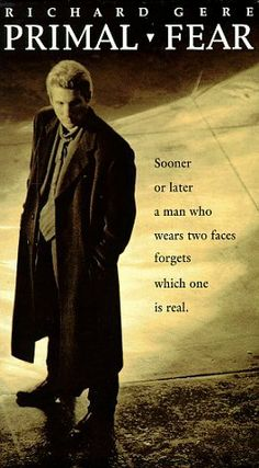 Primal Fear - Richard Gere and an AMAZING performance by Edward Norton. The Best Films, Great Films, 90s Movies, Good Movies, Famous Movies, See Movie, Movie Tv, Capas Dvd, Primal Fear