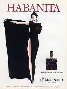 Molinard Perfumes 1991 Habanita Vintage advert Perfumes | Hprints.com