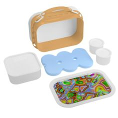 Colored Shapes of Fractals Lunch Box