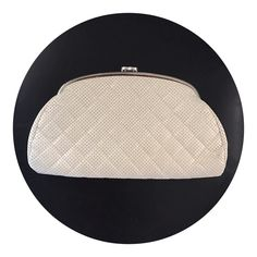 """Chanel white perforated timeless clutch  excellent like new condition with dustbag  measures 11 x 6 x 1 """"  silver hardware  asking $980  comment for more information or to purchase this item"""