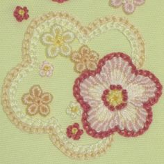 お花の刺繍のやり方