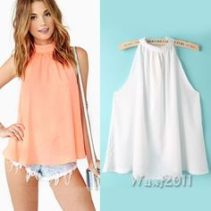 Materials: Chiffon. Package Includes: 1 * Blouse. About Size S. 100% brand new. Weight: 73-75g(Approx) Color: Pink,White. About Size XS.