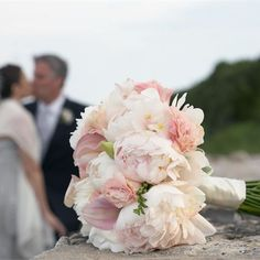 White and pale pink bridal bouquet