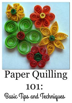 Basic Paper Quilling Techniques - Creative Cynchronicity Paper quilling, or paper filigree, is a simple but lovely craft based on coiling up strips of paper and then forming them into shapes. Get the basics here. Paper Quilling Flowers, Paper Quilling Cards, Paper Quilling Jewelry, Paper Quilling Patterns, Quilled Paper Art, Quilling Paper Craft, Quilling Ideas, Quilled Roses, Quilling Comb