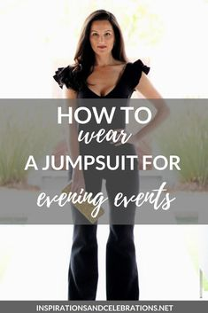 Want to try a jumpsuit but not sure where to begin? We're sharing how to wear a jumpsuit for evening events today on Inspiration & Celebrations. style tips Daye Night Outfit, Night Outfits, Fashion And Beauty Tips, Style Guides, Lifestyle Blog, My Hair, Celebrations, Autumn Fashion, Jumpsuit
