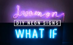 Diy Neon Sign Decor The Sorry Girls intended for dimensions 1280 X 720 Light Up Signs For Bedroom - In about any room in the house you will discover Custom Light Up Signs, Neon Light Signs, Neon Signs, Diy Neon Sign, The Sorry Girls, Idee Diy, Diy Signs, Cool Diy Projects, Neon Lighting